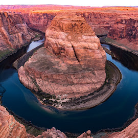 Sunrise at Horshoe Bend, AZ by Steven Aicinena - Landscapes Travel ( horseshoe bend sunrise, sunrise, horseshoe bend,  )