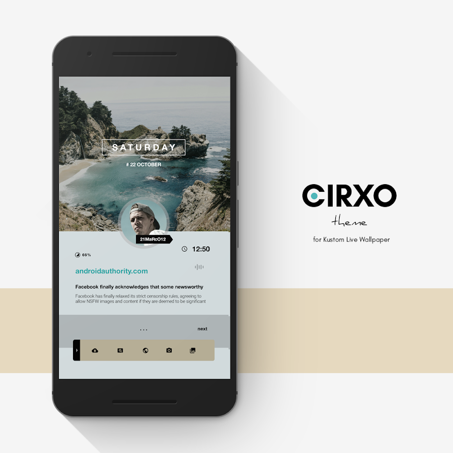 Cirxo Theme for KLWP Screenshot 5