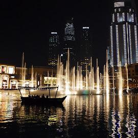 Fountains ~ Dubai by Ingrid Anderson-Riley - City,  Street & Park  Fountains (  )