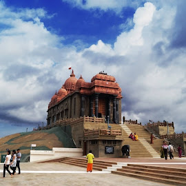Kanyakmari Temple by Himadri Distant Tide - Novices Only Objects & Still Life