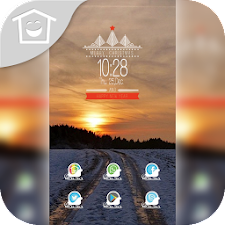 Snow Sunset theme