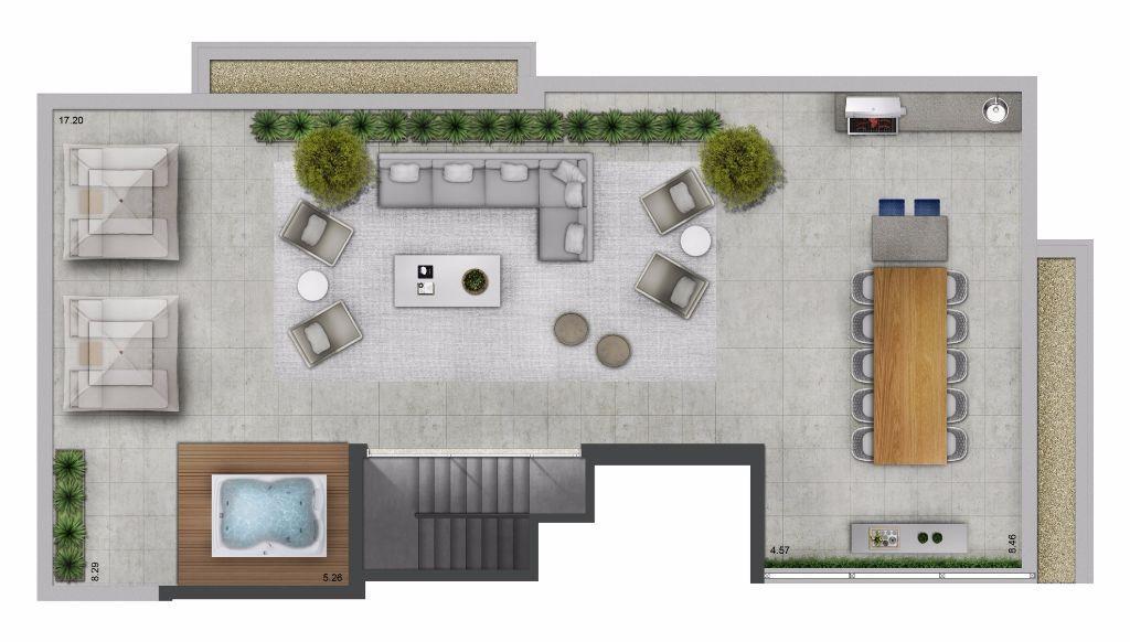 Planta Duplex Superior - 307 m²