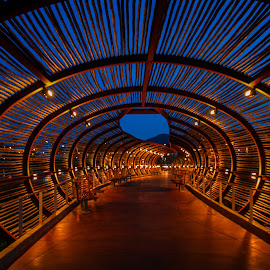 Dos Lagos Tube by Tom Anderson - Buildings & Architecture Public & Historical ( corona, dos lagos, tube, california, tunnel )