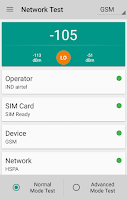 Screenshot of Network Signal Strength