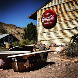 Coke and Smile by Solomen Flewellen - Buildings & Architecture Decaying & Abandoned