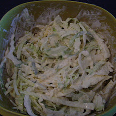Green Cabbage (YES, it's lowER carb) Cole Slaw