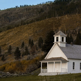Old church by Jim-Sue Mehrwein - Novices Only Landscapes ( oregon, old churches )