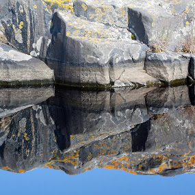Rock reflection by Mia Ikonen - Backgrounds Nature ( reflection, picturesque, rock, surreal, still water, , reflections, mirror )