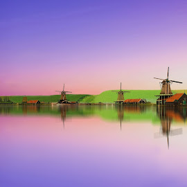 A purple dream by Hasan Yılmaz - Landscapes Travel ( famous, home, skyline, reflection, old, unique, europe, brick, street, amsterdam, travel, cityscape, architecture, house, capital, city, lights, sky, nature, buildings, dutch, illumination, light, evening, water, vessel, traditional, tourism, boat, canal, netherlands, roof, history, urban, landmark, tourist, vacation, european, lighting, facade, color, blue, holland, night, view, culture, river )