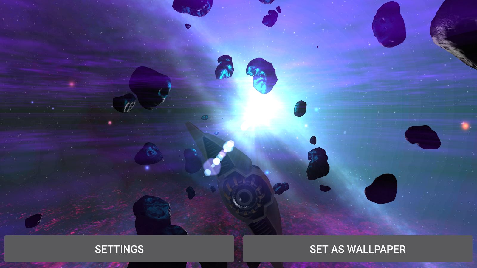 Alien Galaxy 3D Live Wallpaper Screenshot 9
