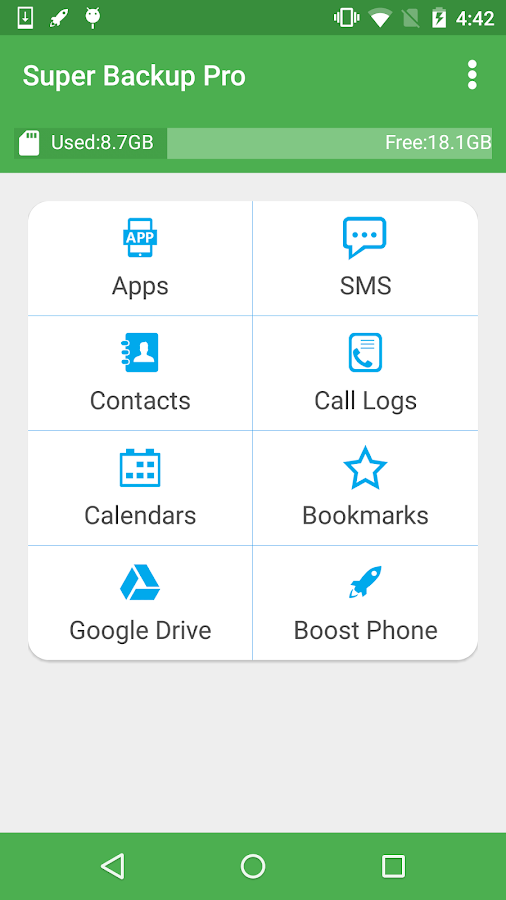 Super Backup Pro: SMS&Contacts Screenshot 0