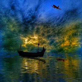 berlayar dan terbang by Sjamsul Rizal - Illustration Sci Fi & Fantasy