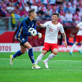 Dawid Kownacki by Paweł Mielko - Sports & Fitness Soccer/Association football ( soccer, soccer photography, sports, goalkeeper, players, poland, football, sport photography, kowancki, ball, stadium, dawid, polish, sport, player )