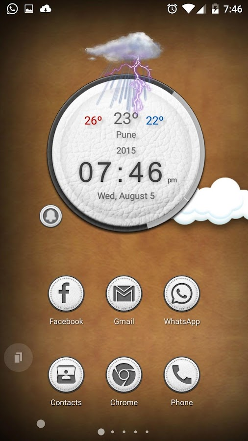 White Leather TSF Shell Theme Screenshot 1