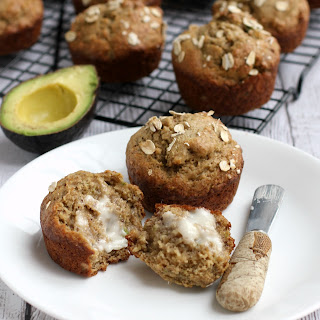 Banana, Avocado, and Flax Muffins