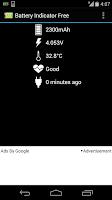 Screenshot of battery indicator free