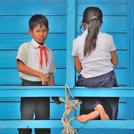 At School by Tomasz Budziak - Babies & Children Child Portraits ( children portrait, asia, cambodia )
