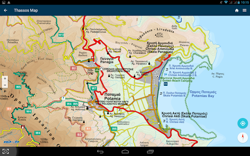 THASSOS Offline Hiking Map - screenshot