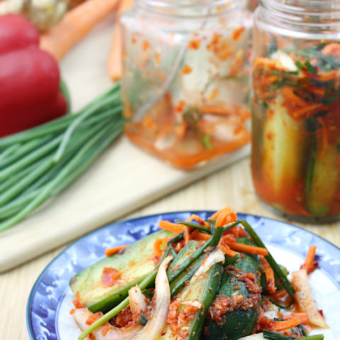 Quick and Easy Cucumber Kimchi (Oi Kimchi)