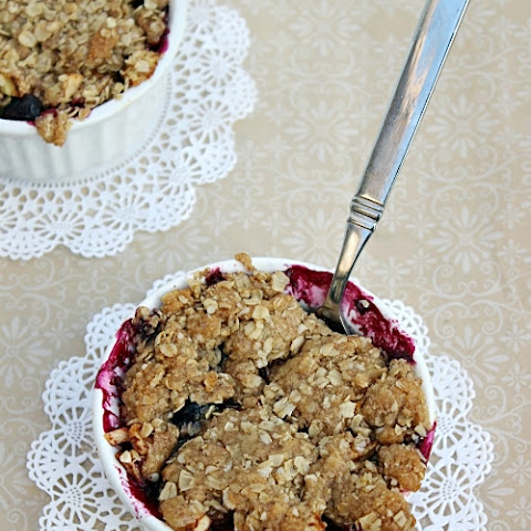 Blueberry Apple Crumble for Two