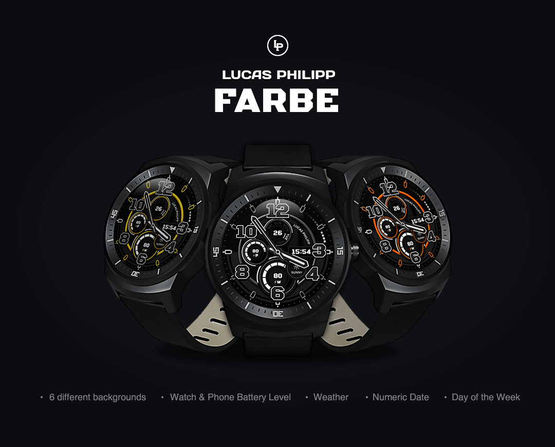 Farbe watchface by LucasPhilip Screenshot 6