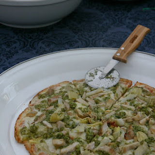 Pesto Artichoke Chicken Pizza