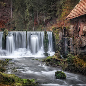 Old mill by Vasja Pinzovski - Landscapes Waterscapes