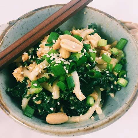 Peanut Noodles with Kale