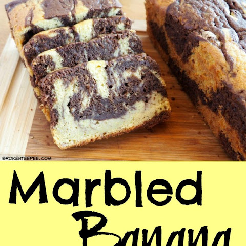 Marbled Banana Cake