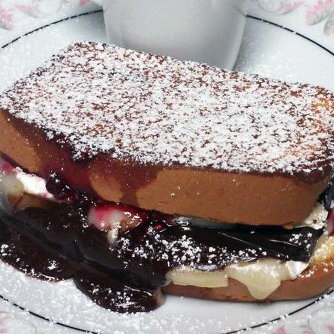Dark Chocolate Raspberry Grilled Cheese Sandwich