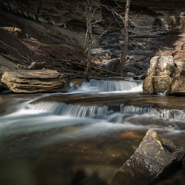 Firescald Creek by John Ray - Nature Up Close Water ( exposure, stream, mountain, altamont, waterfall, stone, rock, valley, flow, travel, landscape, long, hiking, tranquil, firescald creek, adventure, tree, nature, creek, trail, long exposure, motion, rocks, water, wild, park, beautiful, tennessee, forest, scenic, south cumberland state park, greeter falls, landmark, wilderness, environment, cascade, outdoors, falls, background, outdoor, loop trail, scenery, natural, hike, river )