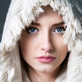 Antonia by Joita Gigi - People Portraits of Women ( face, model, girl, blue, pretty, eyes )