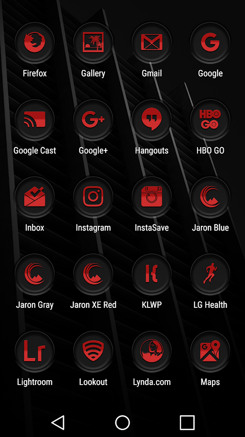 Jaron XE Red Icon Pack Screenshot 5