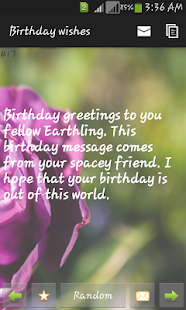 Birthday wishes - screenshot