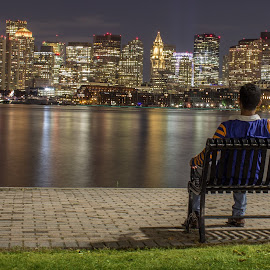 Boston FC Skyline by Harish Kumar K - City,  Street & Park  Skylines ( boston, nightscape, skyline, building )