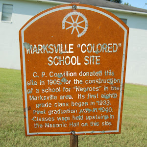 C.P. Couvillion donated this site in 1905 for the construction of a school for