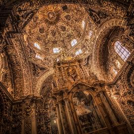 Capilla del Rosario by Ole Steffensen - Buildings & Architecture Places of Worship ( altar, capilla del rosario, church, mexico, puebla, dome, chapel )