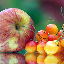 Apple-cherry combo by Asif Bora - Food & Drink Fruits & Vegetables (  )