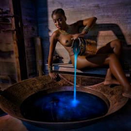 Blue Waters by Derek Galon - Nudes & Boudoir Artistic Nude ( water, nude, blue, art, night,  )