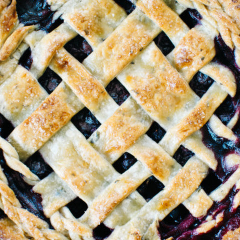 Sage Blueberry Pie with Sour Cream Vanilla Bean Crust.
