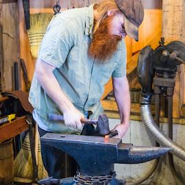 Blacksmith by Carl Albro - People Professional People ( blacksmith, worker, beard, man )