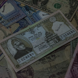 Collection by Atulesh Karna - Artistic Objects Antiques ( currency note, foreign, notes, nepal, currency )