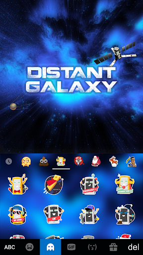 Distant Galaxy Kika EmojiTheme For PC