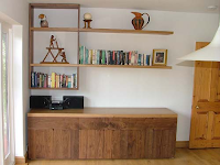 Bespoke Sideboard & Offset Shelving in Oak & American Black Walnut