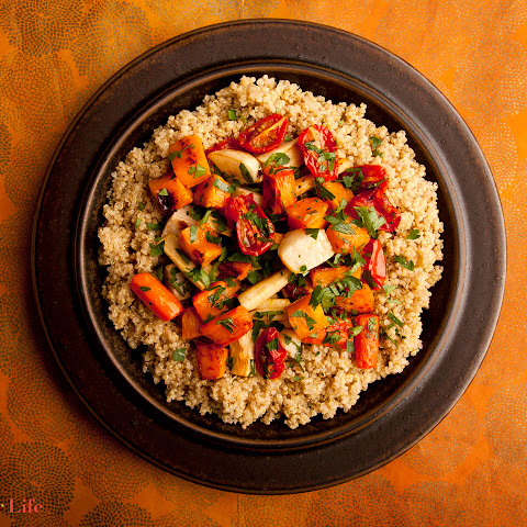 Quinoa with Roasted Winter Vegetables