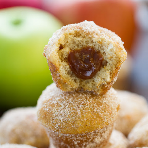 Apple Cider Donut Muffins with Salted Caramel