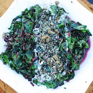 Beetgreens With Citrus Yogurt Dressing