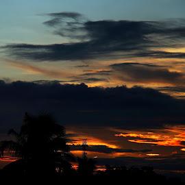 BURNING CLOUD by Sanat Adhikari - Landscapes Cloud Formations