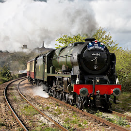 by Brian Pierce - Transportation Trains ( great britain ix, royal scot, royal, redruth, train, scot, steam )