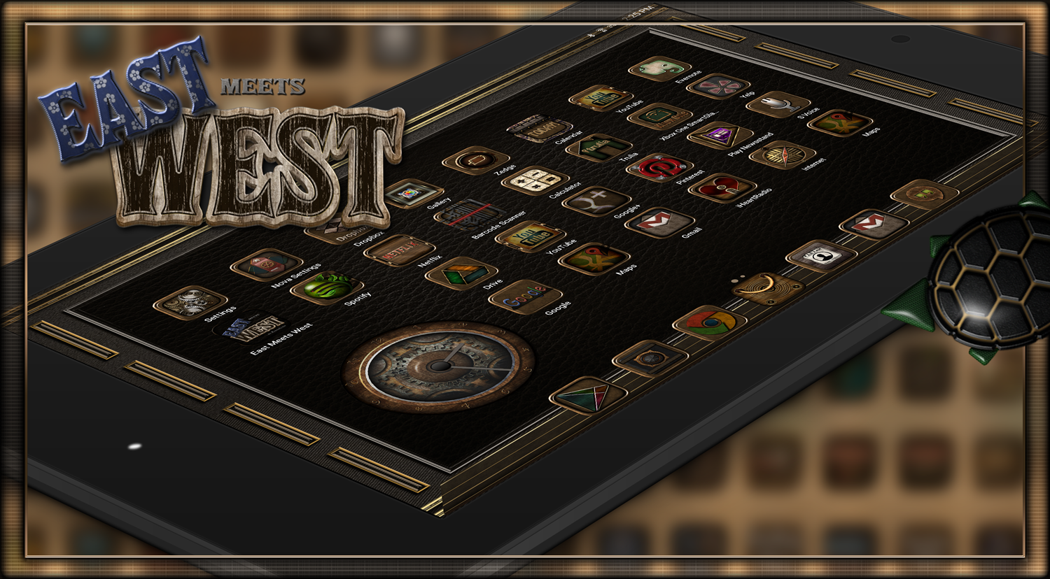 East Meets West Icon Theme Screenshot 2